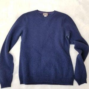 FWM 100% Cashmere Classic Navy Blue Sweater M A07